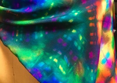 natori silk scarf